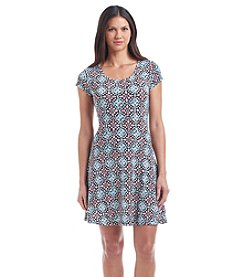 MICHAEL Michael Kors® Short Sleeve Flare Dress