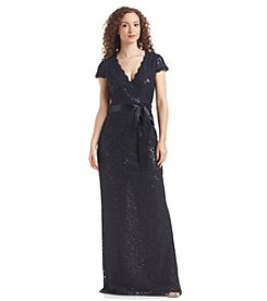 Adrianna Papell® Lace And Sequin Gown