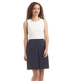 Tommy Hilfiger® Eyelet Fit And Flare Dress