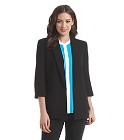Nine West® Textured Lapel Blazer