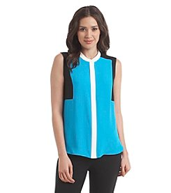 Nine West® Sleeveless Color Block Top