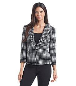 Kasper® Square Checkered Blazer
