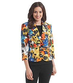 Kasper® Bouquet Printed One Button Blazer