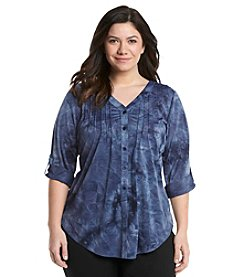 AGB® Plus Size Tie Dye Top