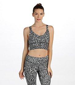 Karen Kane® Cheetah Print Long Line Sports Bra