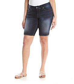 Silver Jeans Co. Plus Size Suki Mid Bermuda Shorts