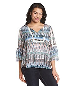Jessica Simpson Plus Size Tabitha Printed Top