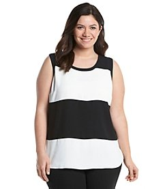 Nine West® Plus Size Thick Stripe Cami