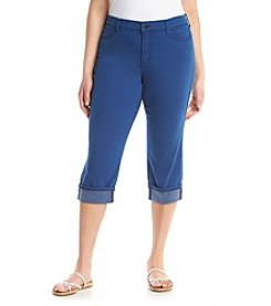 NYDJ® Plus Size Dayla Wide Cuff Capri Pants