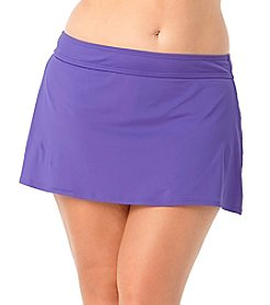 Anne Cole® Plus Size Solid Swim Skirt