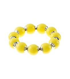 Studio Works® Yellow Stretch Bead Bracelet