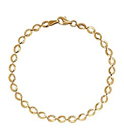 14k Yellow Gold Link Rope Chain Bracelet
