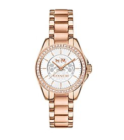COACH WOMEN'S TRISTEN ROSE GOLDTONE BRACELET WATCH