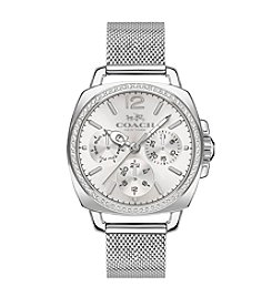 COACH WOMEN'S BOYFRIEND SILVERTONE STAINLESS STEEL MESH BRACELET WATCH
