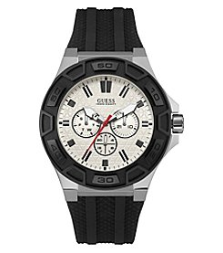 GUESS Men's Silvertone Force Casual Sport Watch