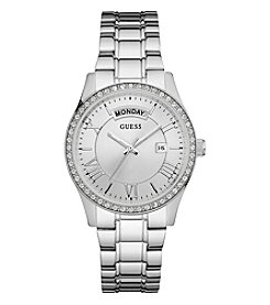 GUESS Women's Silvertone Cosmo Classic Dress Watch
