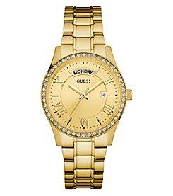 GUESS Women's Goldtone Cosmo Classic Dress Watch