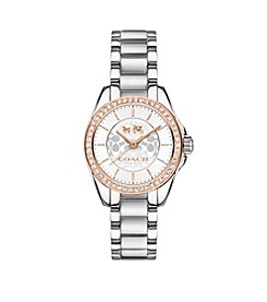 COACH WOMEN'S TRISTEN TWO TONE CRYSTAL BRACELET WATCH