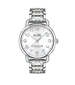 COACH WOMEN'S 36mm DELANCEY SILVERTONE STAINLESS STEEL BRACELET WATCH