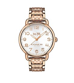 COACH WOMEN'S DELANCEY ROSE GOLDTONE BRACELET WATCH
