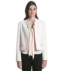Calvin Klein Petites' Textured Notchneck Jacket