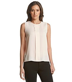 Calvin Klein Petites' Pleat Front Top