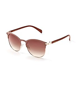 Circus by Sam Edelman™ Retro Round Metal Two Tone Sunglasses