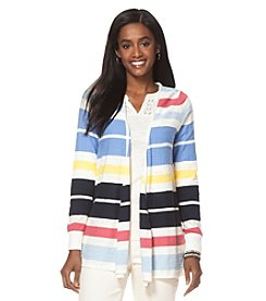 Chaps® Striped Cardigan