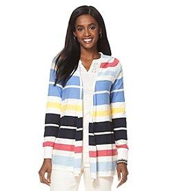 Chaps® Striped Cardigan