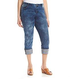 Ruff Hewn Plus Size Medium Wash Denim Cropped Jeans