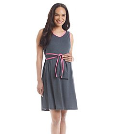 Three Seasons Maternity™ Solid Tank Dress With Contrast Trim