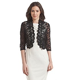 Connected® Scalloped Lace Shrug