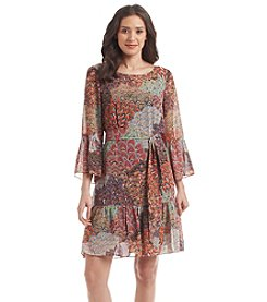 Prelude® Patterned Flounce Dress