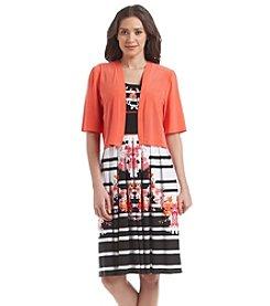 R&M Richards® Patterned Jacket Dress