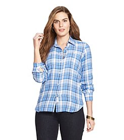 Lauren Ralph Lauren® Plus Size Plaid Workshirt