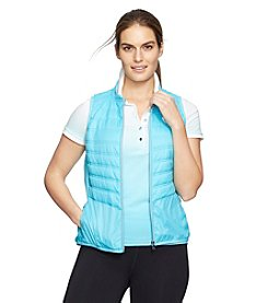 Lauren Active® Plus Size Quilted Baseball Vest