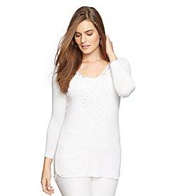 Lauren Ralph Lauren® Plus Size Lace-Inset Jersey Top