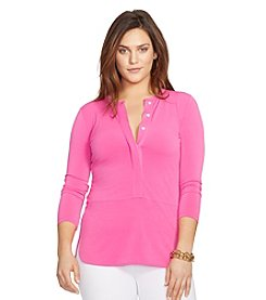 Lauren Ralph Lauren® Plus Size Elongated Jersey Top
