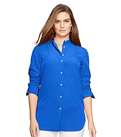 Lauren Ralph Lauren® Plus Size Crepe Button-Up Tunic