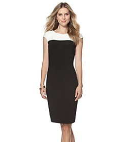 Chaps® Color-Blocked Jersey Dress