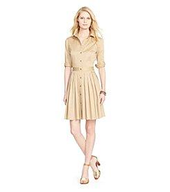 Lauren Ralph Lauren® Sateen Shirtdress