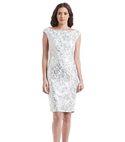 JAX® Metallic Sheath Dress