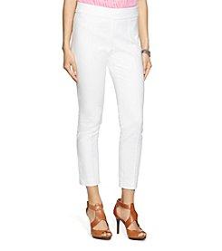 Lauren Ralph Lauren® Cropped Stretch Cotton Pants