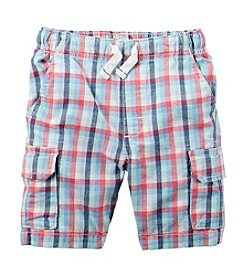 Carter's® Boys' 2T-7 Plaid Cargo Shorts