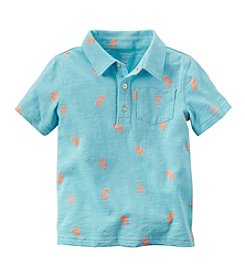 Carter's® Boys' 2T-8 Short Sleeve Printed Slub Polo