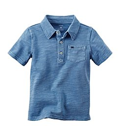 Carter's® Boys' 2T-8 Short Sleeve Slub Polo