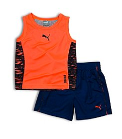 PUMA® Boys' 2T-4T 2-Piece Active Muscle Tank And Shorts Set