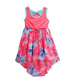 Sweet Heart Rose® Girls' 2T-6X Floral Printed High-Low Dress