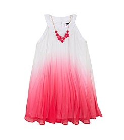 Rare Editions® Girls' 7-16 Ombre Pleated Dress