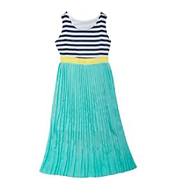 Rare Editions® Girls' 7-16 Striped And Pleated Maxi Dress